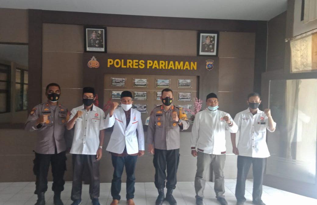 DPD PKS Kota Pariaman Kunjungi Polres Kota Pariaman