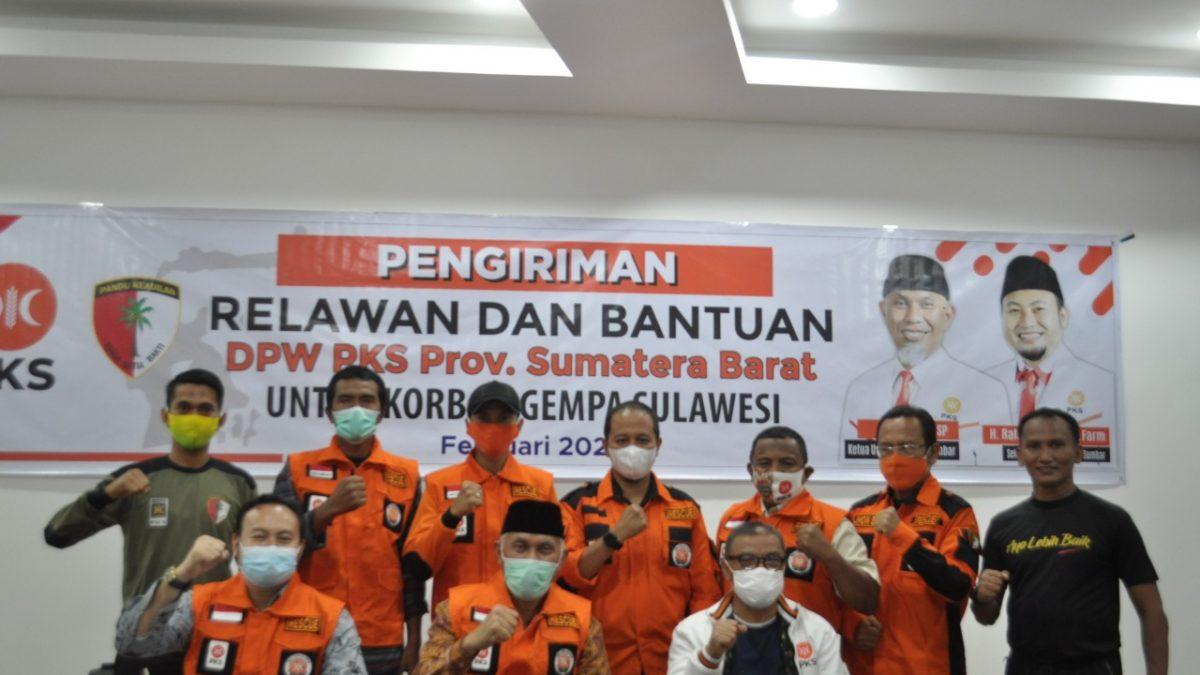 DPW PKS Sumbar Lepas Relawan Ke Sulawesi Barat