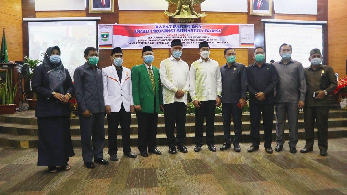 Paripurna DPRD Sumbar Tetapkan Mahyeldi-Audy Sebagai Gubernur dan Wakil Gubernur Terpilih