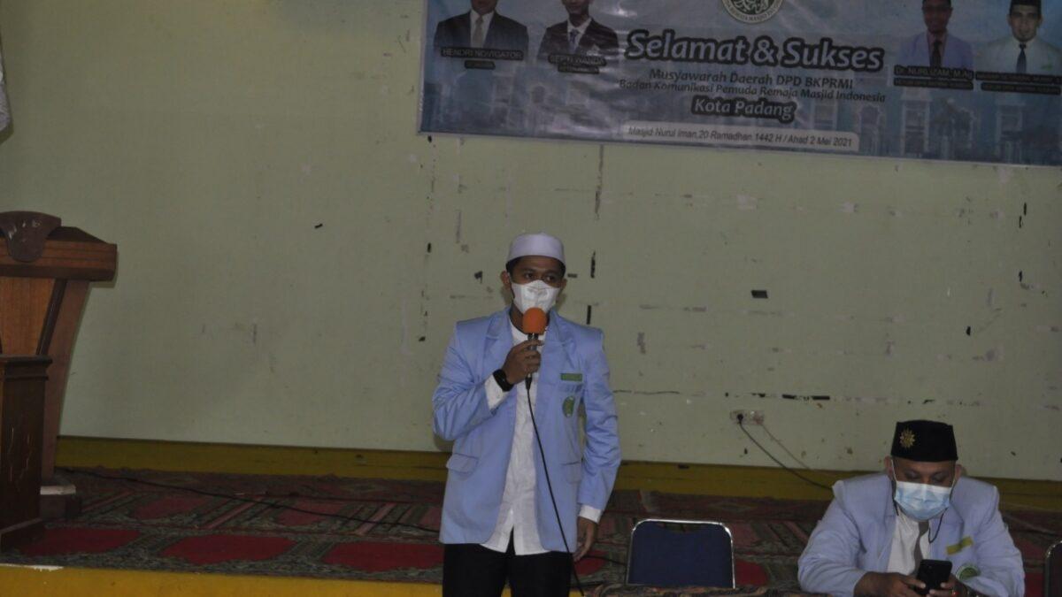 Musda BKPRMI Kota Padang,Galuh Febryan Putra Terpilih sebagai ketua DPD BKPRMI Kota Padang
